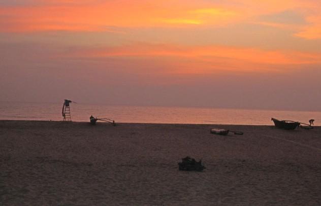 Indien Goa Agonda Strand Sonnenuntergang