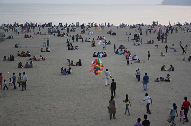 Mumbai Beach Jahrmarkt