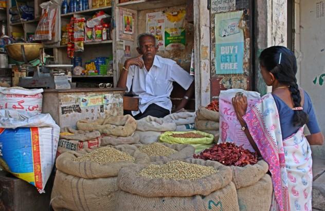 Indien Markt Mann Shop