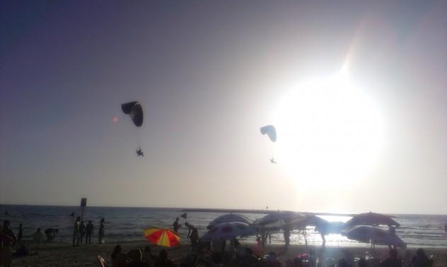 Tel Aviv Beach Kiten Surfen Meer