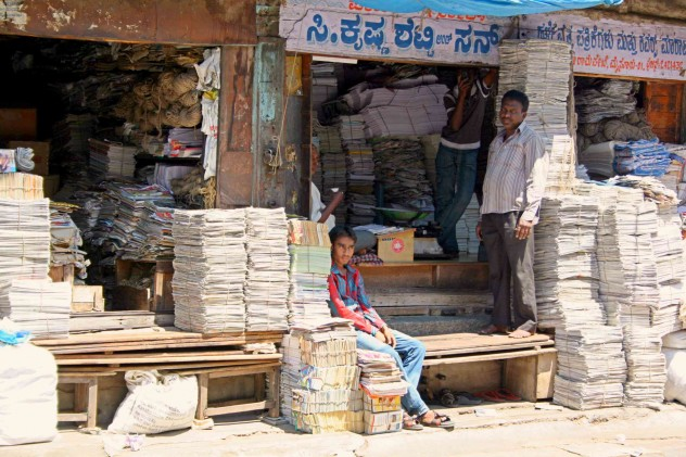 Indien People Shop Paper