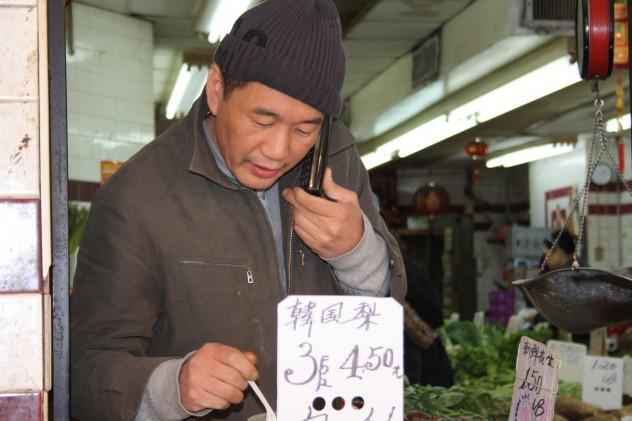 Chinatown in New York Eating Streetfood Mann