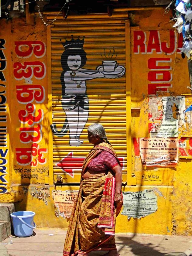 Indien Mysore Frau Sari