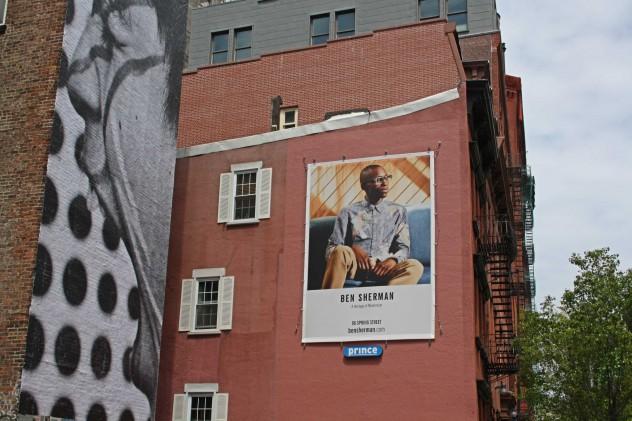New York Ads Street Backstein