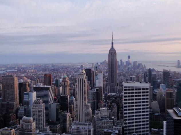 Skyline New York Rockefeller Center Top of the Rock Observation Deck