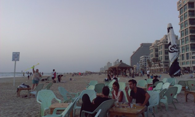 Israel Tel aviv Beach Banana Beach Reise Strand Sonnenuntergang