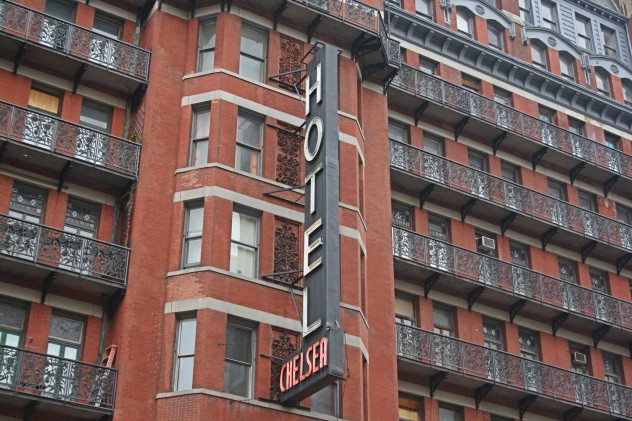 legendäres Chelsea Hotel Backstein In New York Chelsea