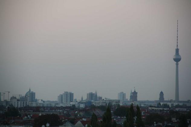 Fernsehturm Berlin Neukölln Ausblick auf die Stadt