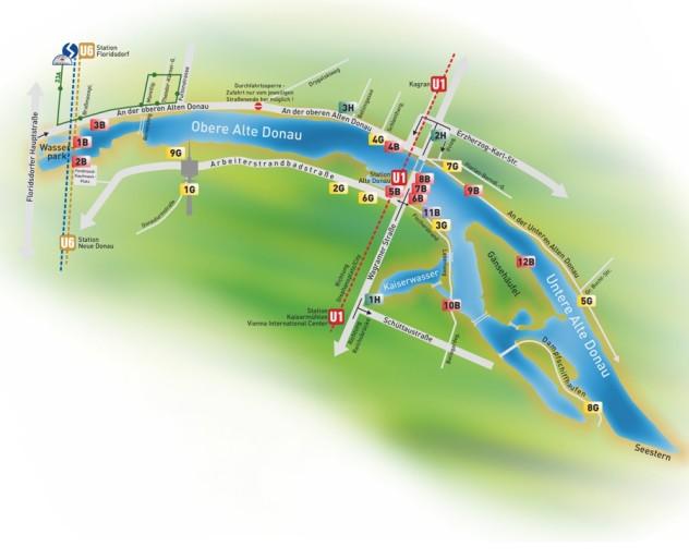 Orientierungsplan Alte Donau