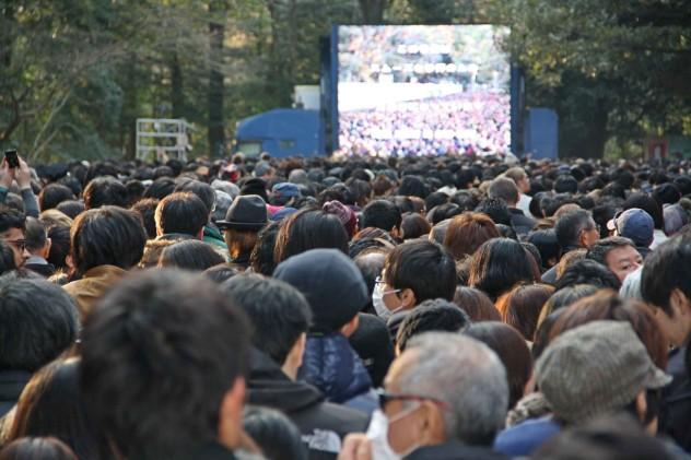 Tokio Tempel Schrein Neujahrstag
