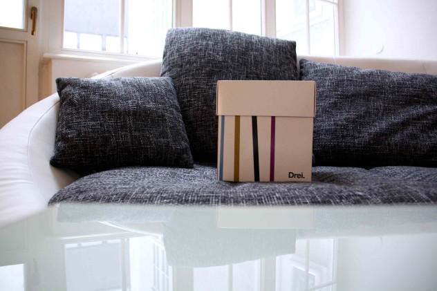 Box macht Pause am Sofa