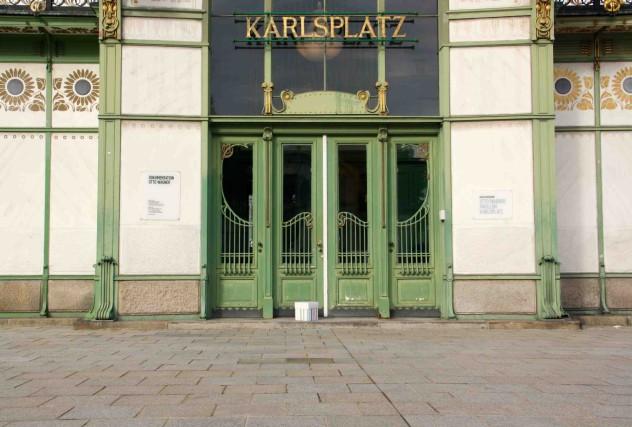 Karlsplatz mit der Drei Pausebox Bloggerpause