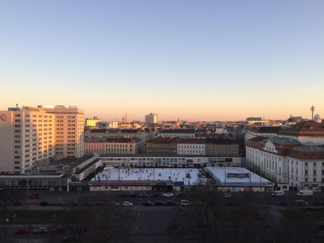 Eislaufen Wien Ausblick