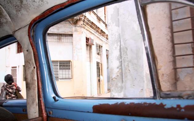 kuba inside a cadillac