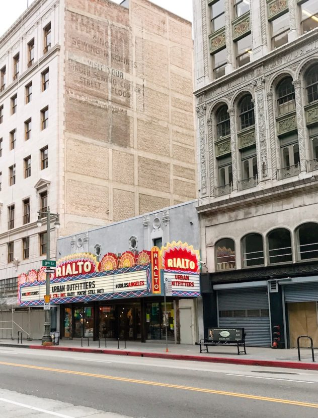rialto theater district los broadwaywas downtown L.A.