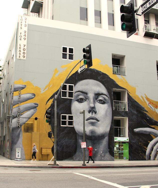 spring street street art downtown L.A.