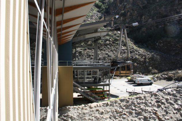 tramway Seilbahn Gondel Wüste Schnee Mount San Jacinto