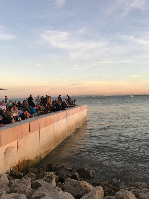 Lissabon Tjo Sonnenuntergang