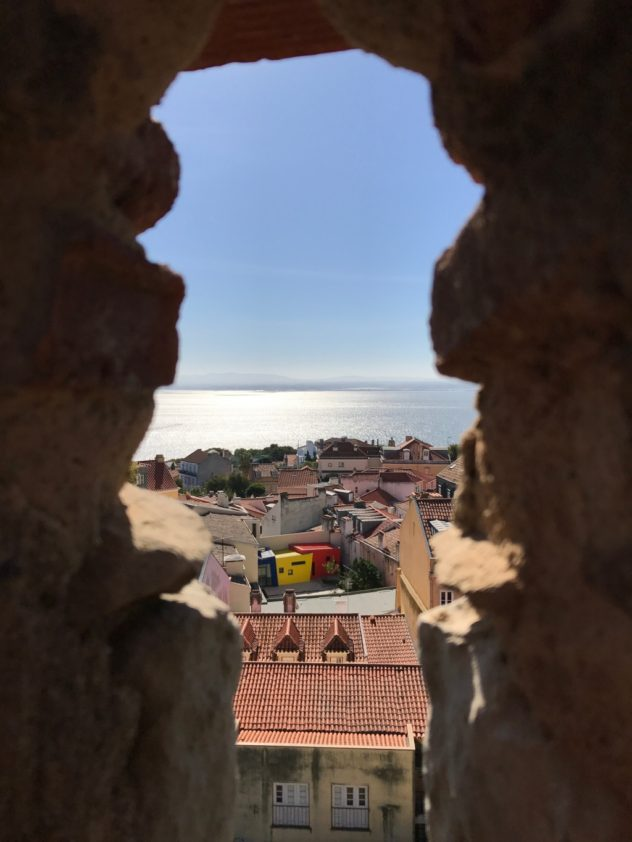 Blick vom Castelo de Sao Jorge Lissabon