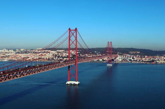 Ponte 25 de Abril Lissabon Aussicht