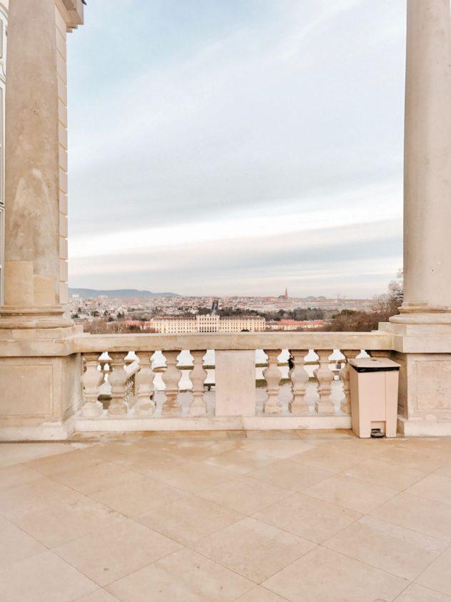 Gloriette Blick auf Wien Schloss Schönbrunn